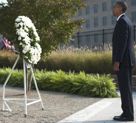 US President Barack Obama pays tribute to the memory of the dead and the affected.