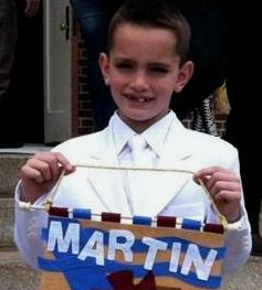 Martin Richard the eight year old victim of the bomb blasts that rocked the Boston Marathon. RIP.