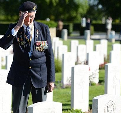 Survivors honour fallen comrades in the battle to free Europe and the world from Nazi tyranny.