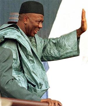 Sierra Leone's former Head of State Ahmad Tejan Kabbah waves goodbye to all worldly matters. RIP.