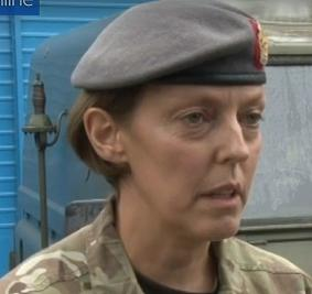 Lt Col Alison McCourt of 22 Field Hospital Aldershot gets an OBE.
