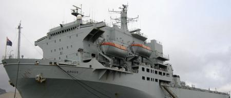The Argus - a medical Royal Navy ship will soon be in waters off the coast of Freetown.