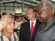 President Koroma shown the works at the fruit factory