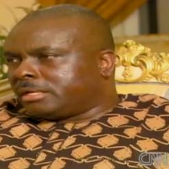 James Ibori in a CNN report declaring his innocence - that was before the London court guilty plea