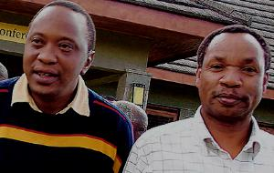 Deputy Prime Minister Uhuru Kenyatta and Henry Kosgey - Picture: Daily Nation