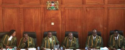 The sitting judges of the Kenya Supreme Court