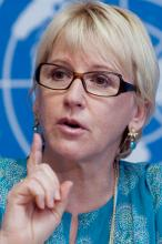 UN Rep on Sexual Violence in Conflict Margot Wallstrom. Has a message for all in Sierra Leone