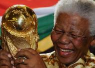 The great Madiba with World Cup 2010 - The event was hosted by South Africa