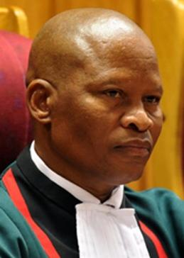 The head of the Constitutional Court of South Africa Chief Justice Mogoeng Mogoeng.