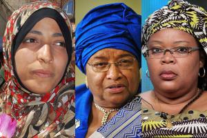 The three winners of the Nobel Peace Prize 2011