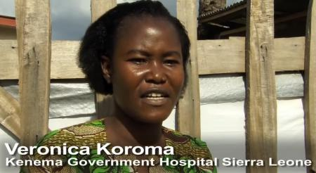 Nurse Veronica Koroma - still at the front in the battle against the Ebola scourge. She survived the deadly Lassa fever infection.