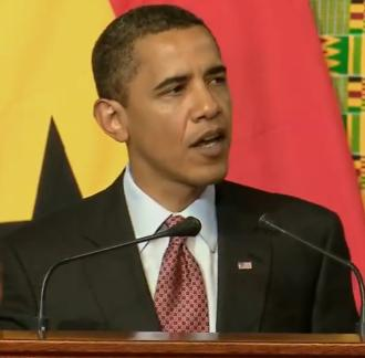 US President Obama addressing the Ghanaian Parliament. Pictures from video clip