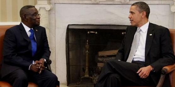 Ghanaian President Mills with President Obama