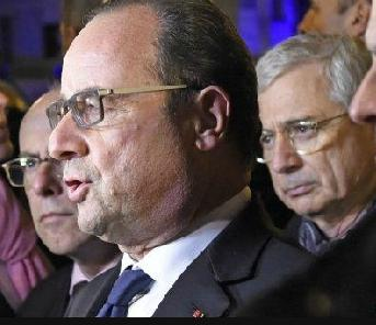 A very shaken President Hollande of France. He has declared war against the attackers.
