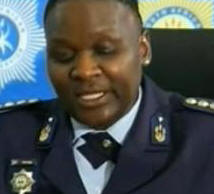 The South African Police Chief Riah Phigeya announcing the suspension of all policemen involved in arrest of taxi driver