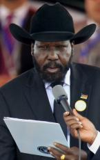 South Sudan's first President Salva Kiir takes the oath