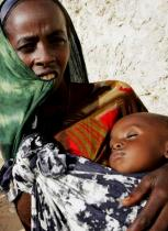A Somali woman and child