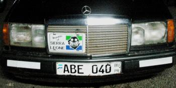 This is the State House car used in the kidnap of the Irish businessman under the watch of Ernest Bai Koroma