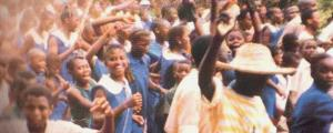 Celebrating children after the overthrow of SIM Turay's government