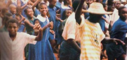 Children celebrating the overthrow of the odious APC regime in 1992