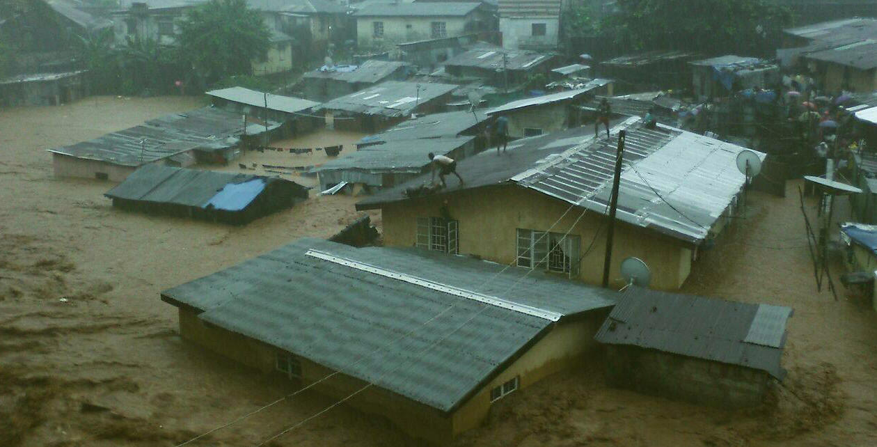 Part of the many photos of the floods in Freetown.